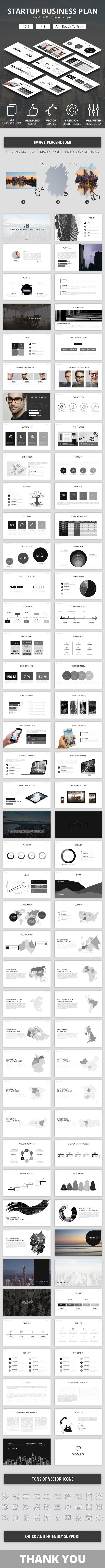 Startup Business Plan PowerPoint Presenation Template - Business PowerPoint Templates