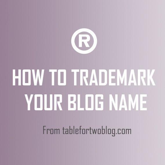 Trademarking Your Blog Name