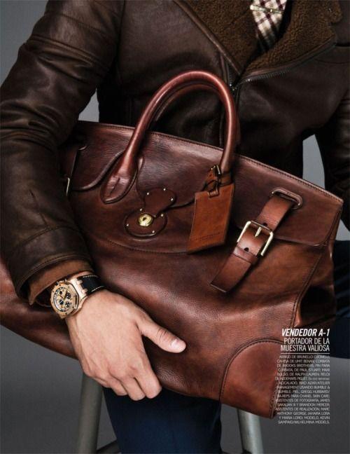Leather bag #men