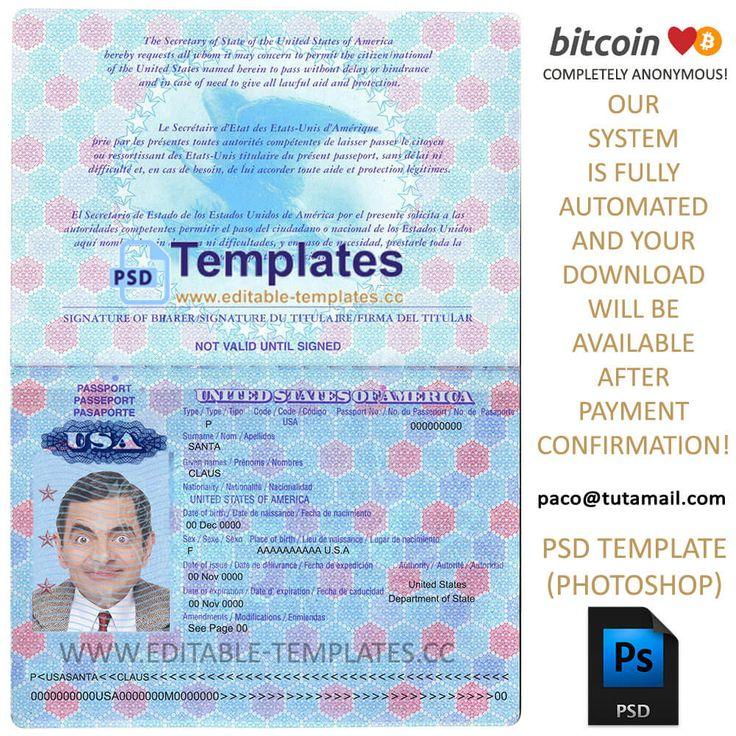 usa passport template  v2  in 2020