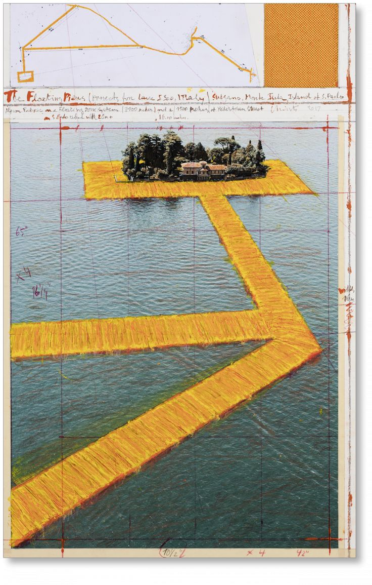 Christo and Jeanne-Claude. Floating Piers, Art C, Collage (Limited Edition) - TASCHEN Books
