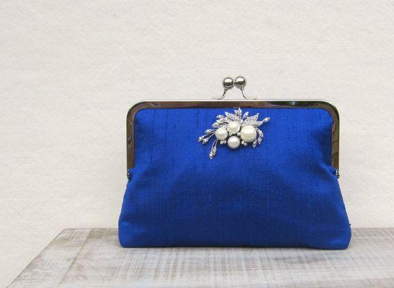 Royal blue clutch bag, royal blue uk on Etsy, $60.00