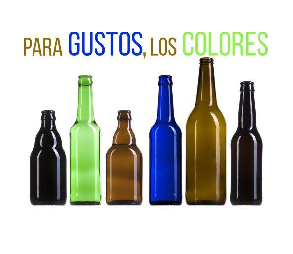 #Botellas de #vidrio para cerveza en distintos colores. juvasa.com