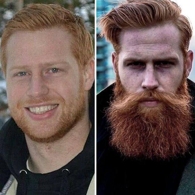 Da imbranato, un po' sovrappeso a modello molto richiesto. E' la storia in breve di Gwilym Pugh: era un ragazzo gallese di 21 anni che passava la sua vita davanti a una scrivania portando avanti una società di assicurazione ben avviata. Un giorno ha deciso di farsi crescere la barba, ha cambiato stile di vita ed è stato notato da un'agenzia di moda, tanto che ora, a 33 anni, posa per immagini che finiscono su GQ e lavora con David Beckham.