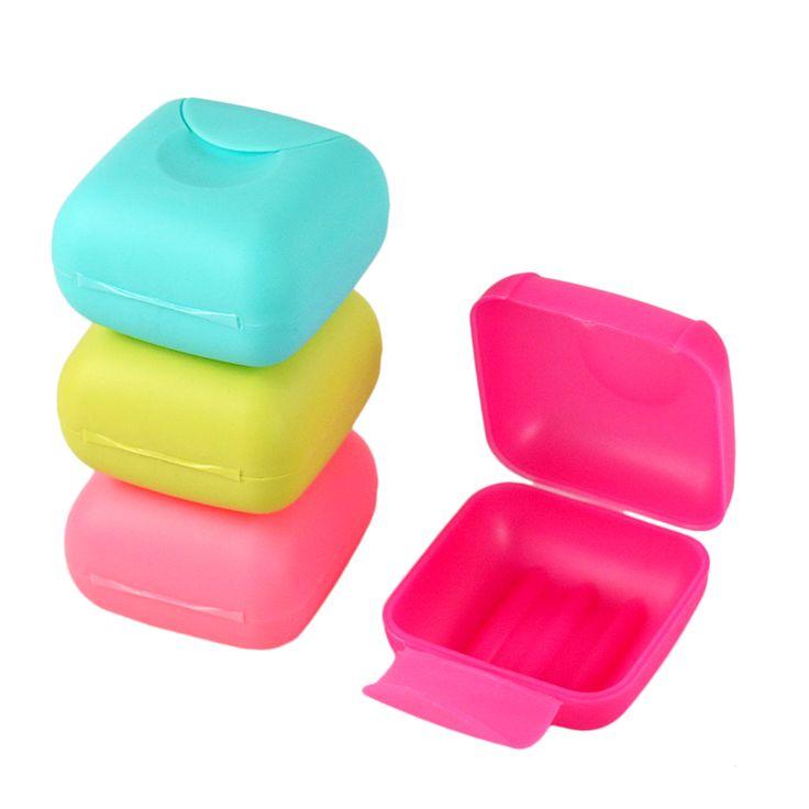 旅行石鹸箱バックルロックカバーホルダーコンテナシャワー浴室用品