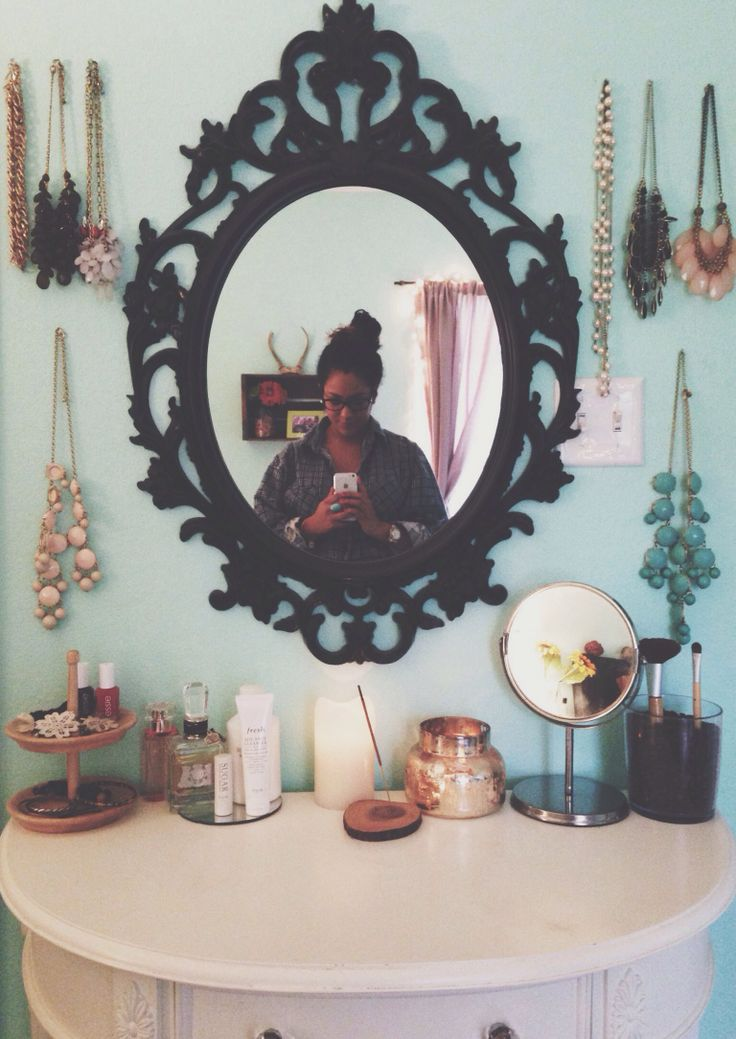 vanity + jewelry. Different mirror and colors but cool if there is enough room!