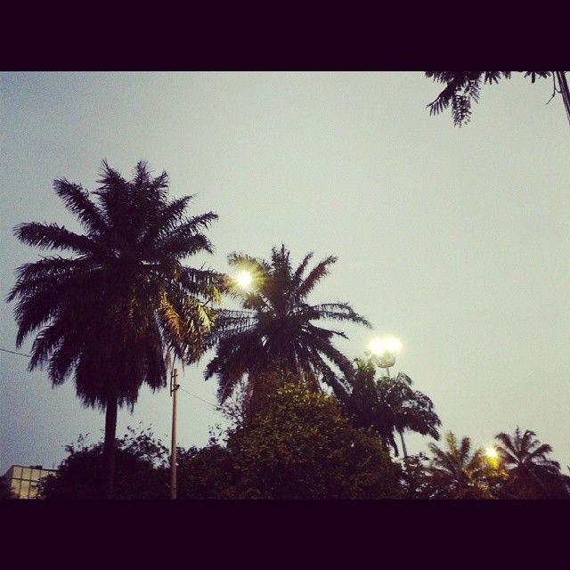Llega la noche en la Sultana. #Cali