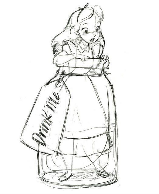Alice in Wonderland-drink me bottle