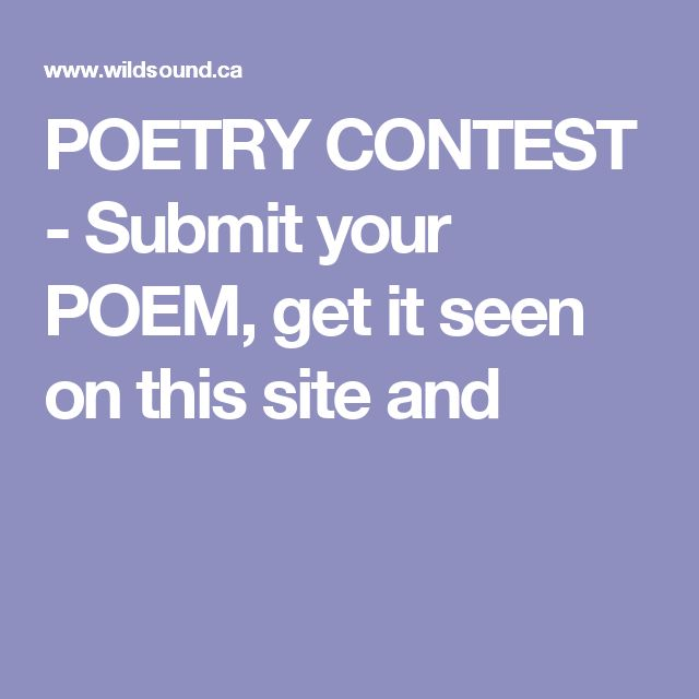 Submit teen poetry apologise