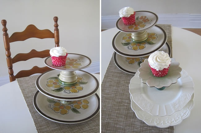 how to make a quick cupcake stand