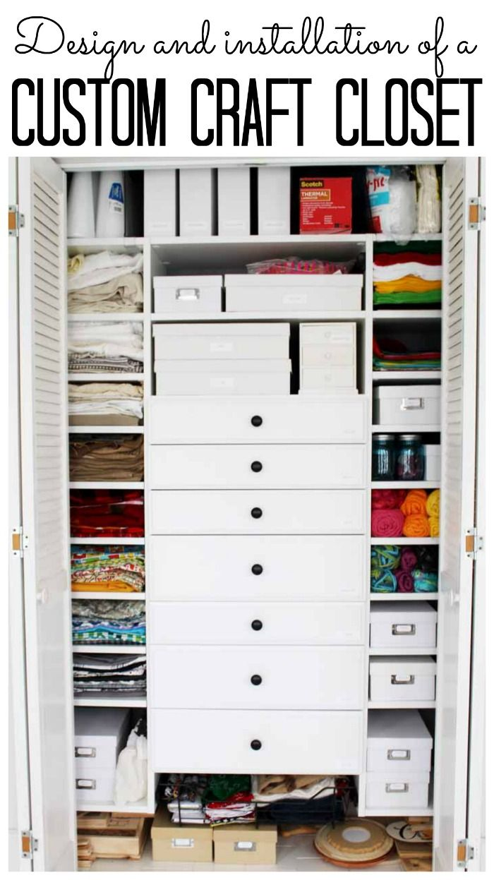 Craft Closet Walk Through The Design And Installation Process Of A Custom That Will Your Mind Ad