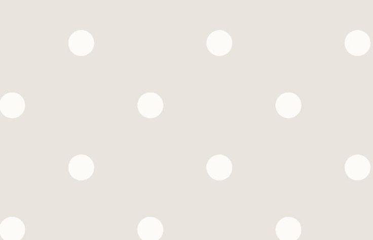 Papel pintado lunares vintage color beige, telas & papel