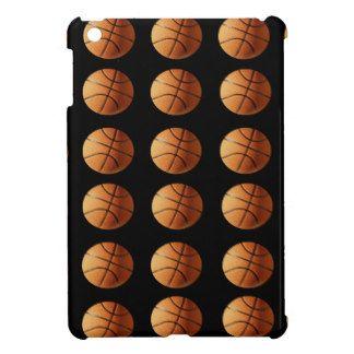 Orange_Basketballs_On_Black,_ iPad Mini Cover