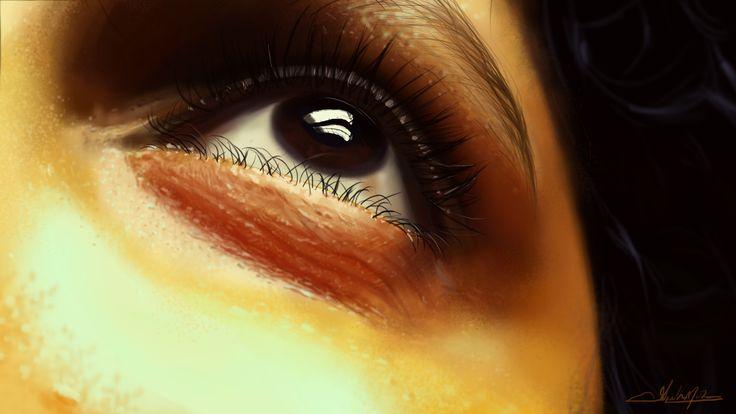 Eyes of my better half.. , Ashith Mohan on ArtStation at https://www.artstation.com/artwork/LmbZR
