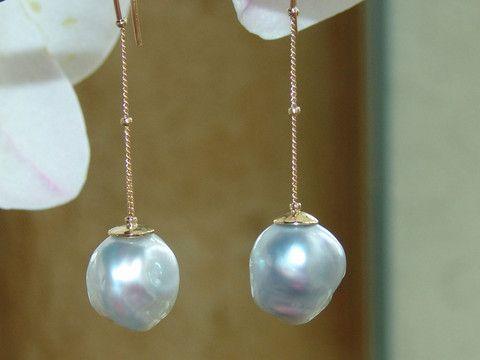 Baroque South Sea Pearl earrings by Georgina Whitford.