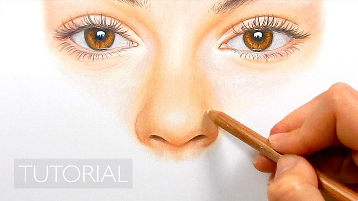 tutorial how to draw a realistic nose with colored