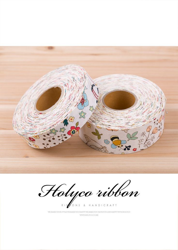 "Cartoon Forest Linen Ribbon / 1"" (25mm), 1.5"" (40mm) / made in korea. by HOLYCO on Etsy"