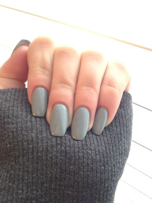 Gray Coffin Shape Nails Are You Looking For Short Square Almond Round Acrylic N Acrylicnail