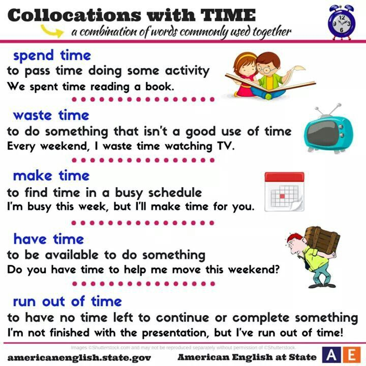 American English at State|Collocations with time|Studying collocations can be very helpful for ELLs who are working on learning to phrase things like a native English speaker.
