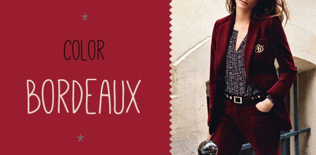 Tendencia: Color Bordeaux - Tiendas Dressup Providencia  http://tiendasdu.cl/blog-ropa-mujer-femenina-moda/tendencia-color-bordeaux.html