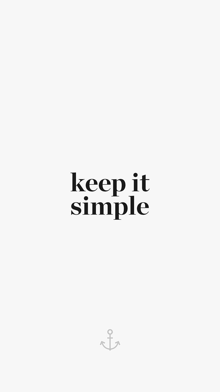 KEEP IT SIMPLE WORD QUOTE WHITE ILLUSTRATION ART WALLPAPER HD IPHONE