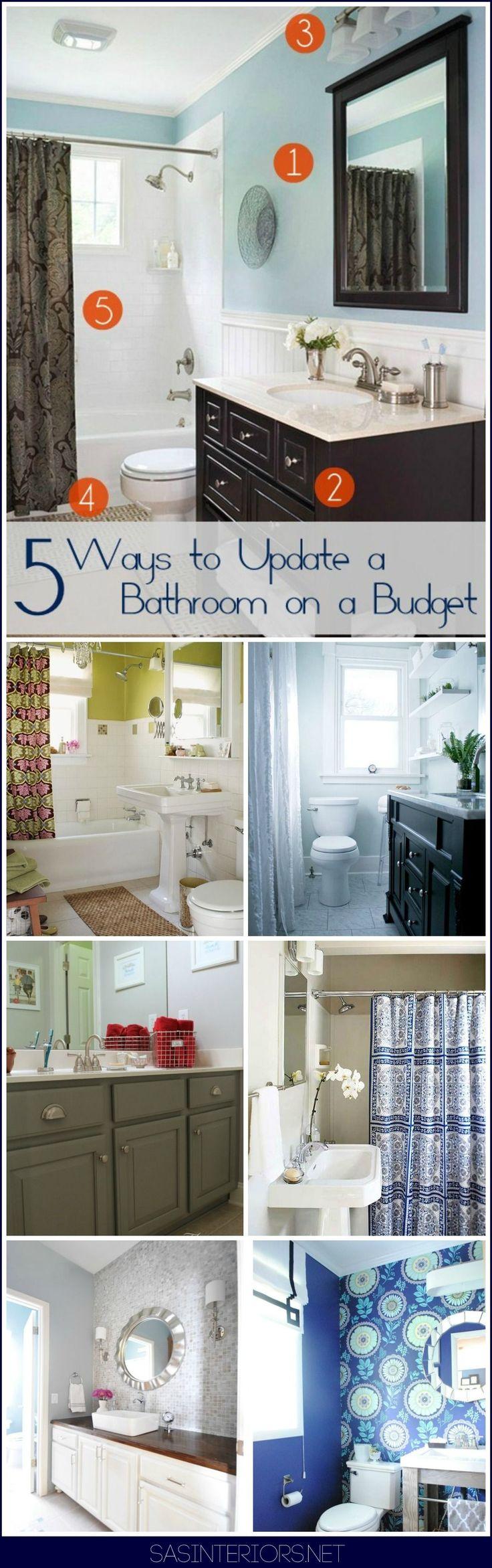 Id id ideas de cocina de los pa ses de bricolaje - 5 Ways To Update A Bathroom On A Budget
