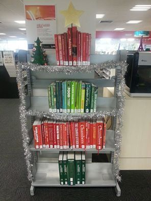 Take a look at our special Christmas tree at Broadmeadows Library, made by one of our clever library officers!