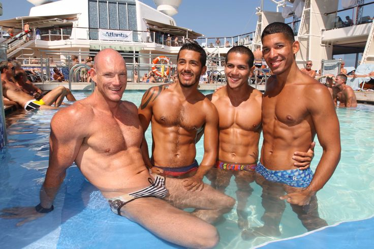 Gay Cruises – The biggest gay cruise of the year ... enjoying at the swimming pool with friends .. www.gaytraveladvice.com