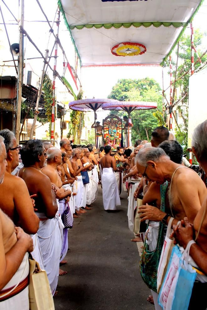 Numerous gopurams connect