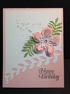 "Happy Birthday card using Stampin' Up! ""Botanical Builders"" & ""Gorgeous Grunge"" stamp set"