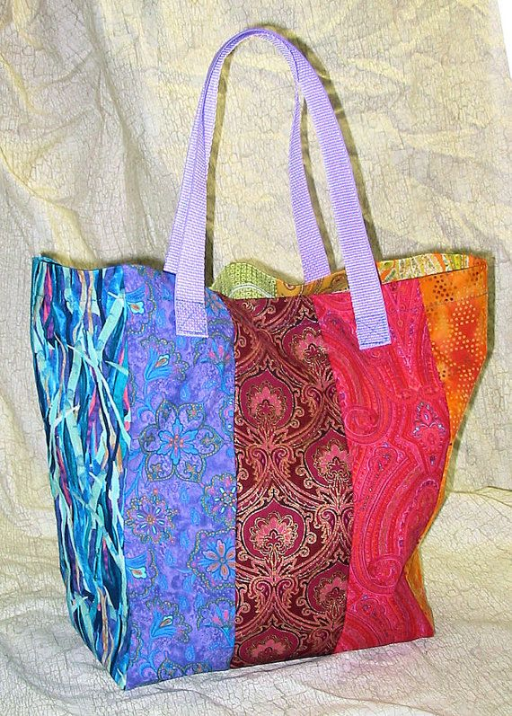 Hippie Boho Reusable Rainbow Shopping Grocery Bag by BohemianHwy