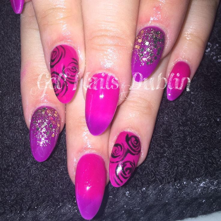 Colour blend purple & pink