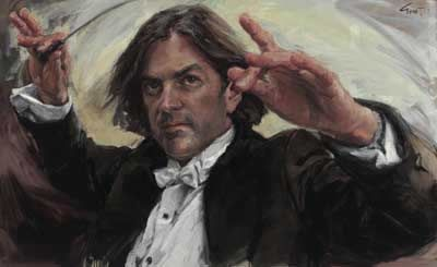 Evert Ploeg's portrait of conductor and musical director George Ellis.2007 Archibald Prize People's Choice Award