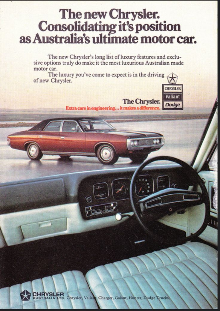 CJ Chrysler by Chrysler Chryslers luxury answer to Holdens Statesman and Fords Fairlane. 340 and 360 V8 770 trans Dana 8.5 in diff