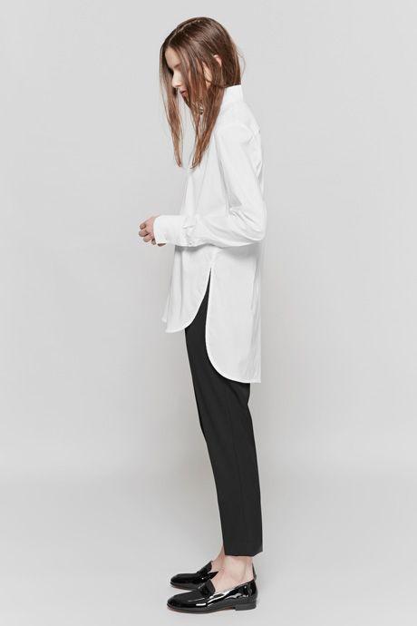 Ellery Iman Funnel Neck Shirt & White Duke Slim Tux Pant | Dieppa Restrepo Penny Loafers | MYCHAMELEON.COM.AU