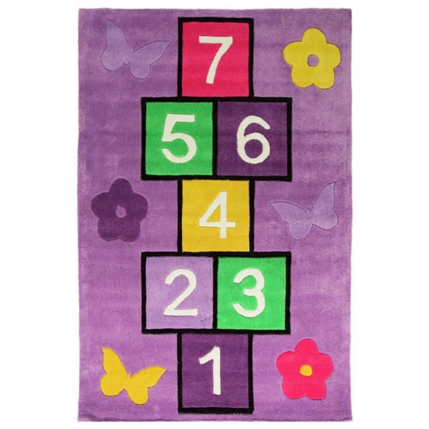 Buy Kiddy Play Hopscotch Rug - 70x100cm - Multicoloured at Argos.co.uk, visit Argos.co.uk to shop online for Rugs and mats, Home furnishings, Home and garden
