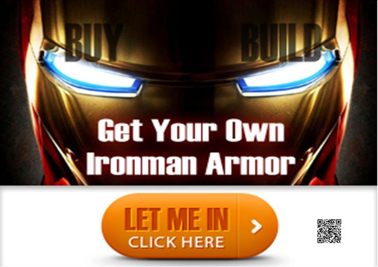 Build or buy your own Iron Man Suit Armor Costume and become the next Tony Stark http://b302357ftfcw0l1k6lud3r4x6j.hop.clickbank.net/?tid=ATKNP1023
