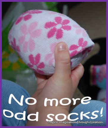 Inspire imagination through creation: No more odd socks!
