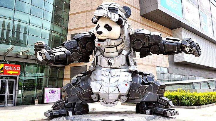 Bi Heng en zijn Iron Panda: ludieke kunst met een veel diepere ecologische waaschuwing en boodschap. Superhelden oosterse wijze.