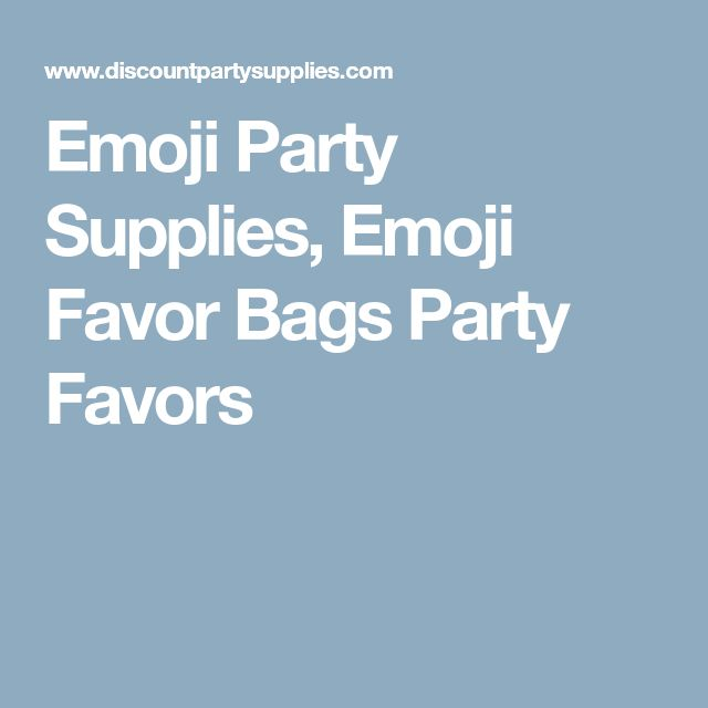 Emoji Party Supplies, Emoji Favor Bags Party Favors