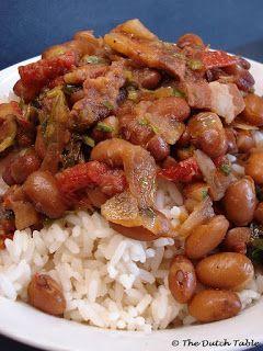 The Dutch Table: Bruine Bonen met Rijst (Dutch brown beans with rice)