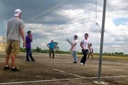 Friendly match between a HANDS team and students at Cornerstone in Belize