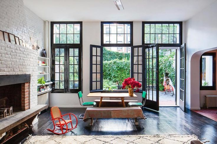Classically-appointed New York City apartment with a secret garden.