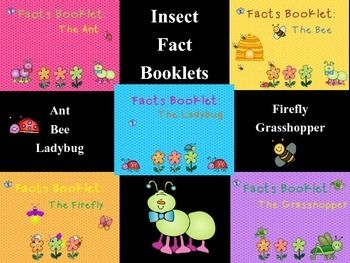 This facts booklet on fireflies, ants, grasshoppers, ladybugs, and bees is a great resource to use for doing a research project on insects with your young children.  It is difficult to find age appropriate facts where the child can be independent in their research skills.