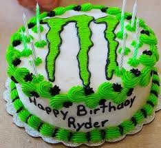 Monster Energy Cake can some 1 make but use monster in it LOL
