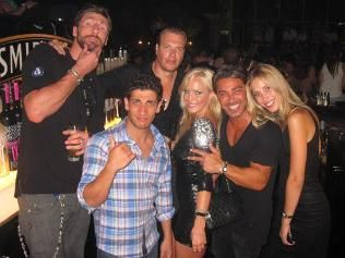 Simon Main is one name that stood out with John Ibrahim in this photo.