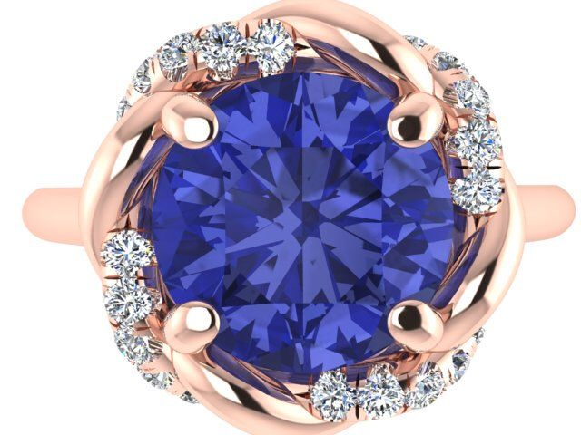 Tanzanite in rose gold ring, Engagement RING, Custom made Natural Tanzanite ring, annyversary ring, Venetian Collection by Bridal rings by BridalRings on Etsy https://www.etsy.com/listing/256205426/tanzanite-in-rose-gold-ring-engagement