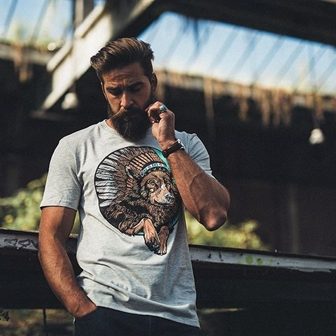 Indian Wolf Tee in our 2015 lookbook #thebearhugco