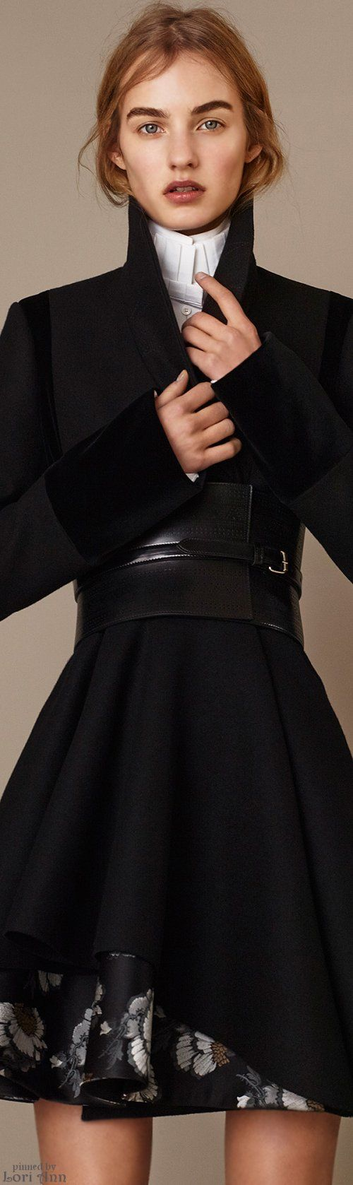 Alexander McQueen Pre-Fall 2015. Victorian Gentleman with feminine twist
