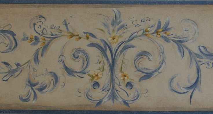 French country wallpaper border 12d8 km7744b for Country wallpaper borders